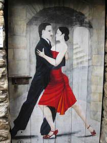 Bemalte Tür, Valloria, Tango